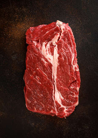 Raw fresh braising beef steak butcher's cut ready to cook.