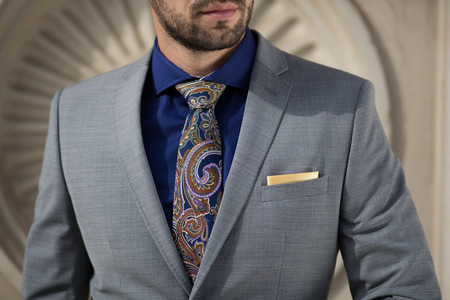 Urban smart casual outfit man. Vintage look Stock Photo