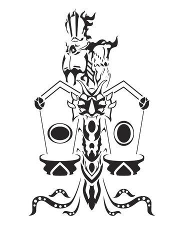 libra zodiac: Libra, zodiac set by fundemental Illustration