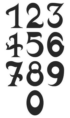fundamental: Illustration of Black fundamental number. Isolated on white background. Illustration