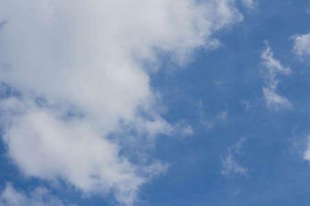 blue sky and cumulus clouds background