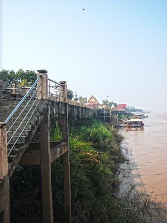 th�?¨: Tha Sadet Pier Market en Nong Khai, Tailandia