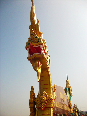 tha: Phaya Nak at Tha Sadet Pier Market in Nongkhai, Thailand