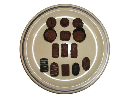 Plate Of Chocolate Truffles  photo
