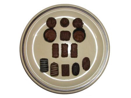 Plate Of Chocolate Truffles  photo