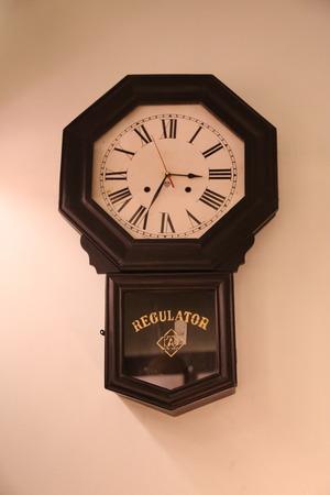 ancient pass: Old Wall Clock Stock Photo