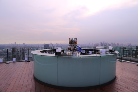 Sky Bar, Bangkok: Sky view from the bar