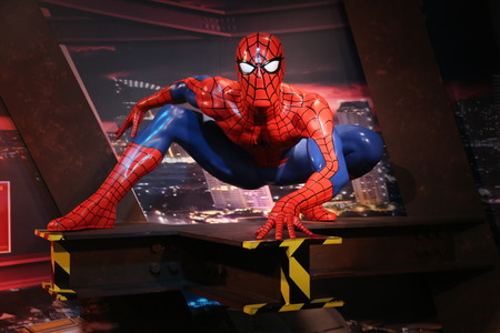 spiderman: Spiderman Wax Figure in Thailand