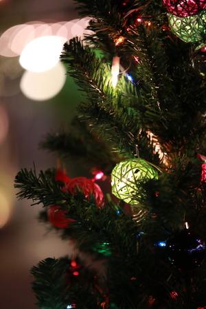 spot lit: Chrismas tree Stock Photo