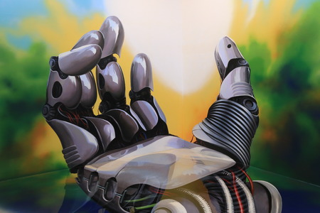Robot Hand Wallpapers Ultra High Resolution Zdjęcie Seryjne - 34398451