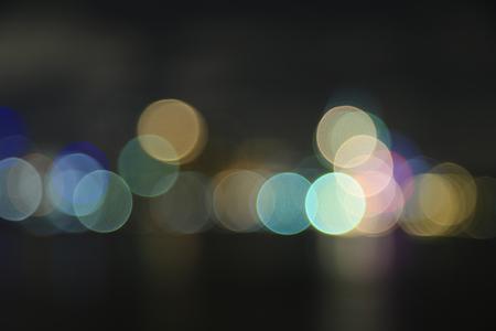 riverfront: Defocused bokeh lights at Asiatique riverfront