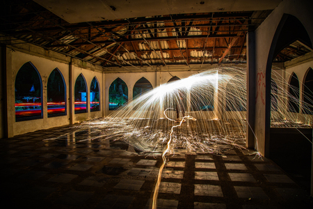 intersects: When the artists universe intersects with reality, there is light - Steel wool