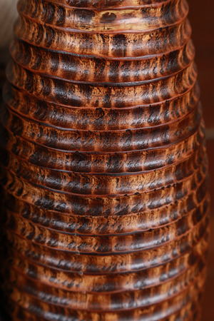 handcrafted: Handcrafted Coconut shell vase - Textures