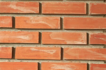 nicely: Red brick wall as a nicely textured background