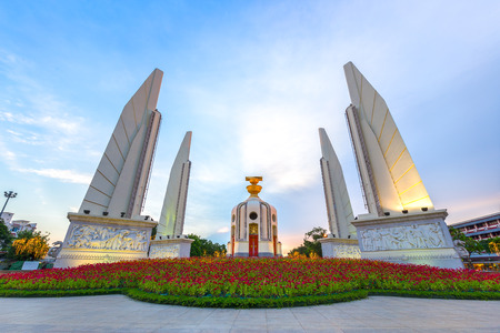 The Democracy Monument is a historical of constitution monument in Bangkok, Thailand.