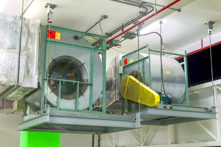 Industrial centrifugal fan in ventilation systems.