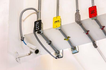 closed circuit television: Closed Circuit Television camera isolated on white background.