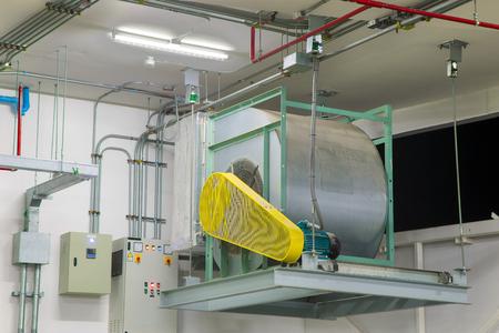 Ventilador centrífugo industrial en sistemas de ventilación. Foto de archivo - 70368046
