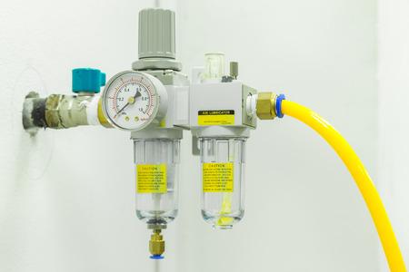 Filtre à air comprimé Régulateur Lubrificateur. Banque d'images