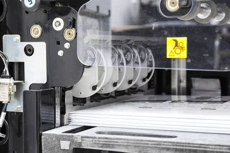 The equipment for a press in a modern printing house Stock Photo