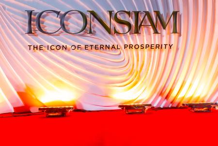Bangkok, Thailand - November 9, 2018 : ICONSIAM Backdrop Banner for Celebrity Photoshoot. 新聞圖片