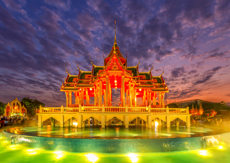 Ayutthaya, Thailand. Bang Pa In Palace, Aisawan Dhipaya Asana Pavilion is a tourist site that shows the adaptation of Thailand about 130 years ago.