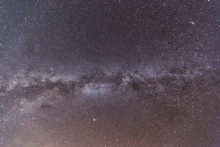 Clearly Milky Way on the night sky. Zdjęcie Seryjne