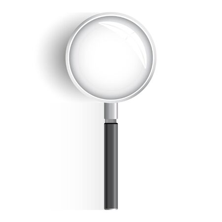 Magnifying glass with gradient mesh isolated on white background, Vector Illustration.