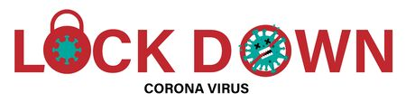 Lock down concept for Corona virus outbreak. CoVID-19 pandemic puts countries on lock down.