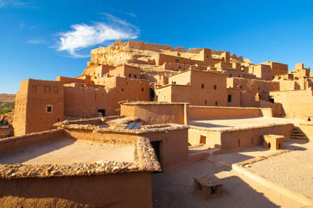 Casas en el desierto de Marruecos