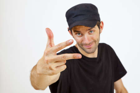 A Man is presenting you three Fingers Imagens