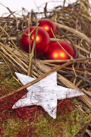 A Star on a Christmas decoration