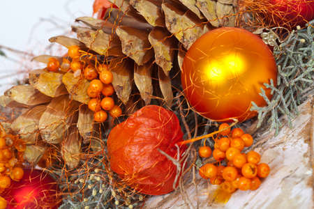 An orange Decoration with natural objects