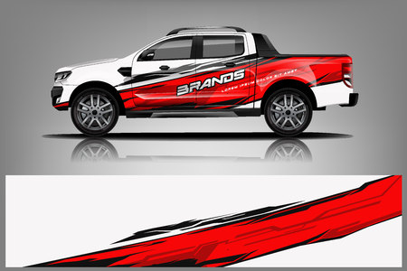 Truck Wrap design for company, decal, wrap, and sticker. vector eps10 - Vector