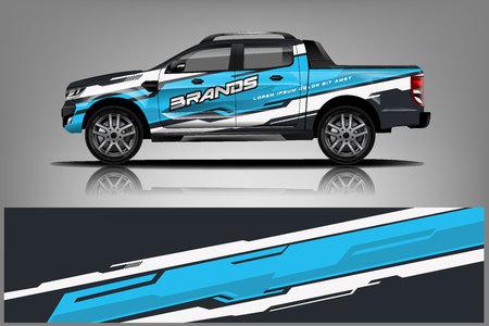 Truck Wrap Design für Unternehmen, Aufkleber, Wraps und Aufkleber. Vektor eps10 - Vektor Vektorgrafik