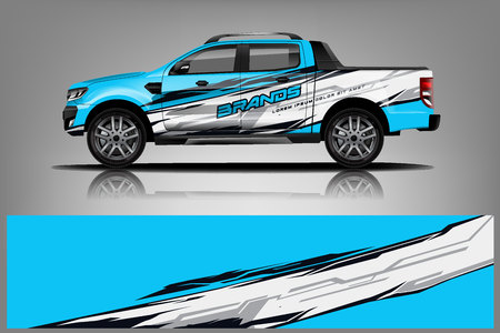 Truck Livery Wrap Design. Car wrap decal and sticker design. - Vector