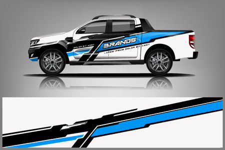Truck Livery Wrap Design. Car wrap decal and sticker design. - Vector Illusztráció