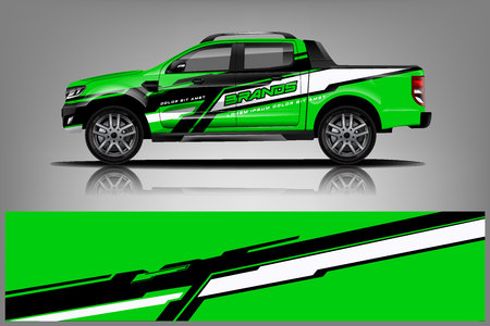 Truck Livery Wrap Design. Car wrap decal and sticker design. - Vector Illustration