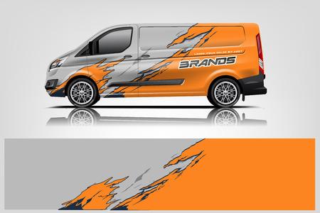 Van wrap design. Wrap, sticker and decal design for company. Vector format - Vector