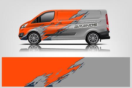 Van wrap design. Wrap, sticker and decal design for company. Vector format - Vector Stock Illustratie