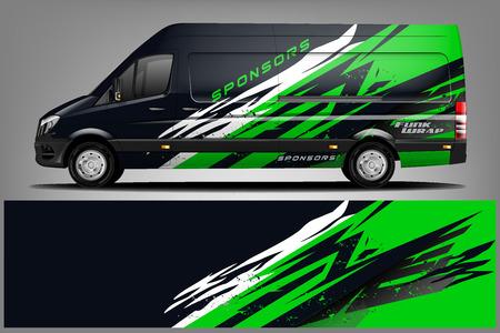 Van Wrap Livery design. Ready print wrap design for Van. - Vector Vetores