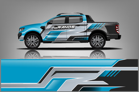 Truck Wrap design for company Illustration