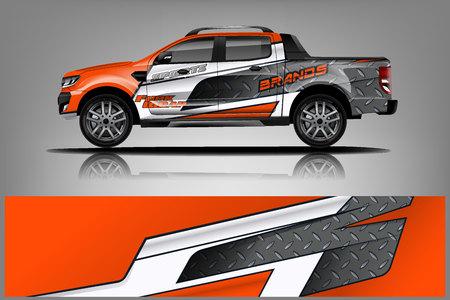 Truck Wrap design for company Иллюстрация