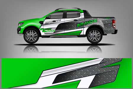 Truck Wrap design for company Vectores