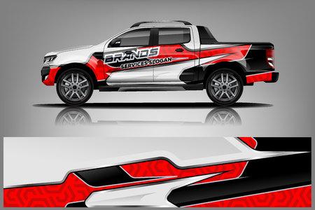 Design dell'involucro del camion per l'azienda Vettoriali