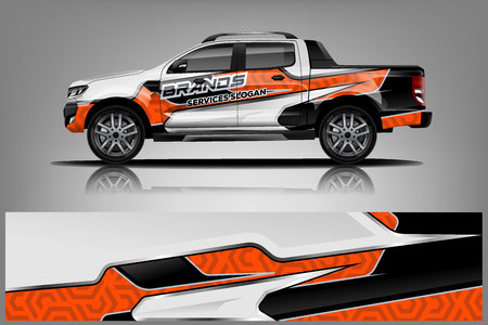 Truck Wrap design for company 向量圖像