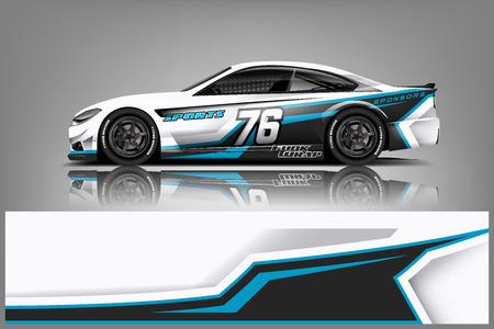 Wrap-Design für Sportwagenrennen. Vektor-Design. - Vektor