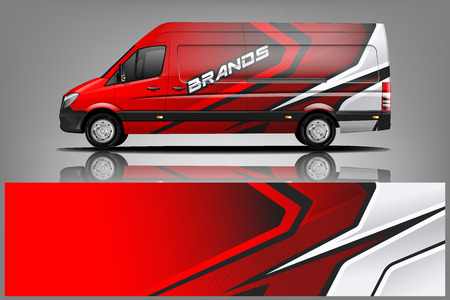 Van Car Wrap Design für Unternehmen Vektorgrafik