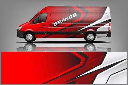 Van Car Wrap design per azienda Vettoriali