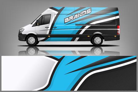 Van car Wrap design for company Иллюстрация